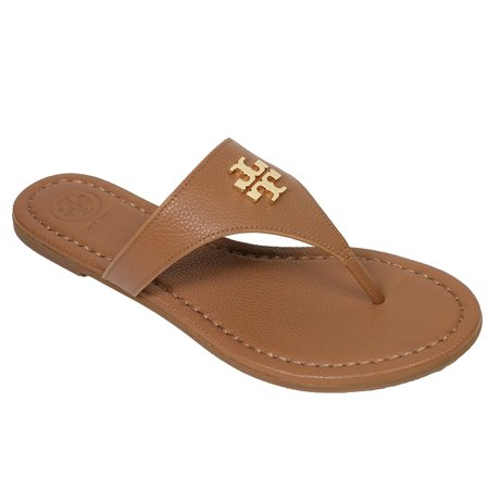 a1cc49aea582b Tory Burch - Tory Burch Laura Flip Flop Flats Thong Tumbled Leather ...