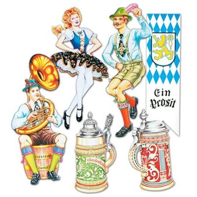 Beistle - 55646 - Oktoberfest Cutouts- Pack of 12