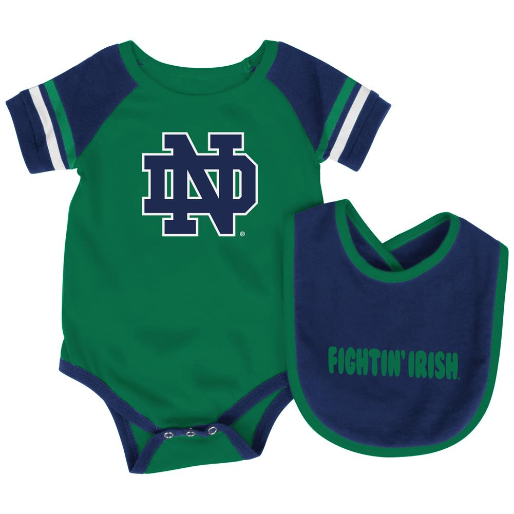 Notre Dame Fighting Irish Baby Bodysuit and Bib Set Infant Jersey by Colosseum