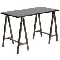 Flash Furniture Writing Desk with Brown Frame, Multiple Colors