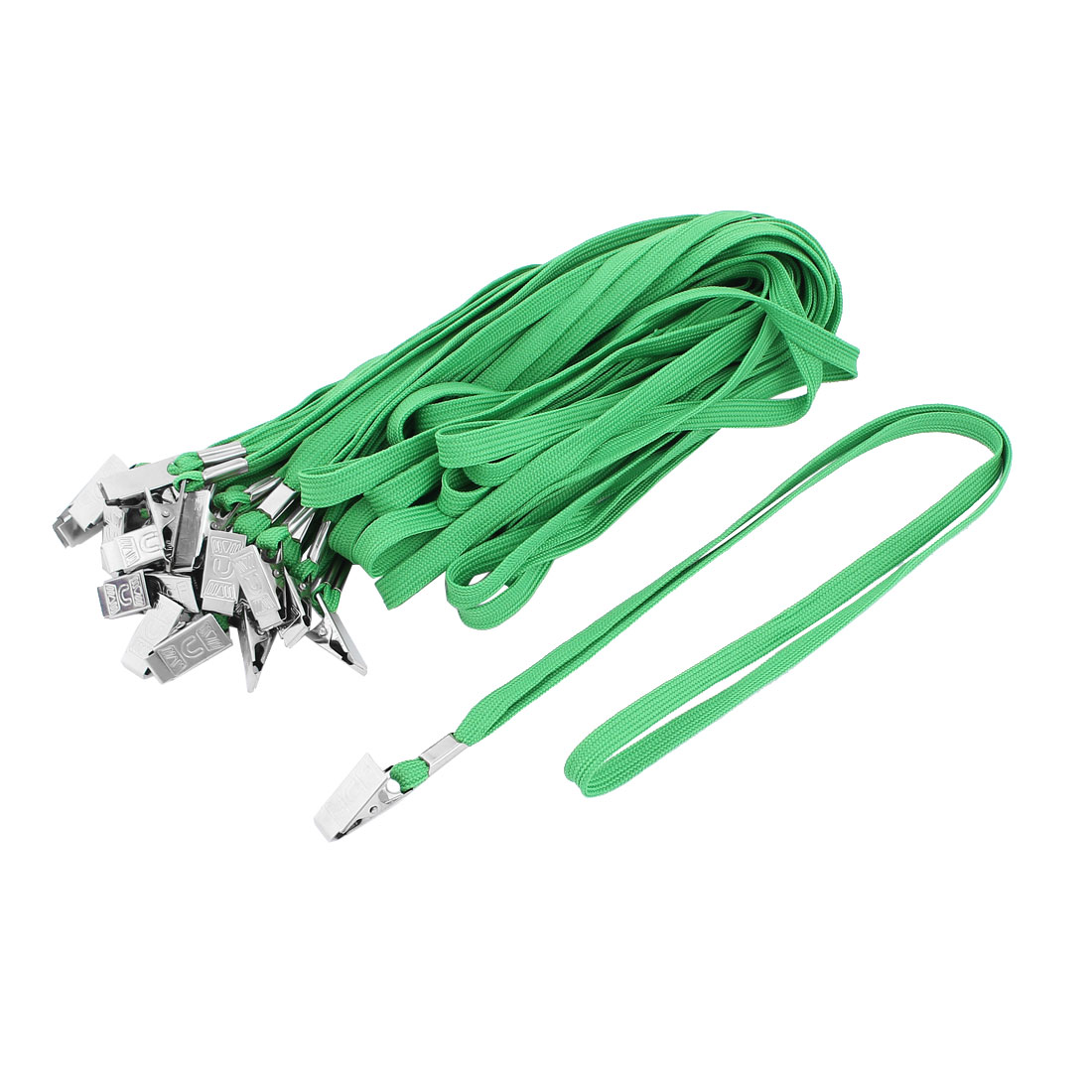 Unique Bargains 2 Pcs Neck Strap ID Card Badge Holder Lanyard School Office Bank Students Stationery Green