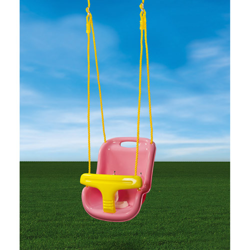 Gorilla Playsets High Back Infant Swing, Pink