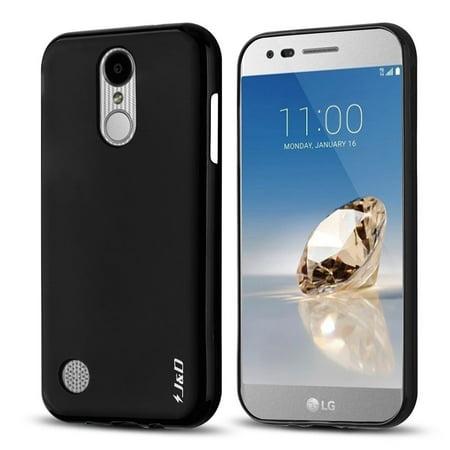 - LG K8 2017 Case, J&D [Drop Protection] [Slim Cushion] [Lightweight Bumper] Shock Resistant Protective TPU Slim Case for LG K8 (Release in 2017) – Black