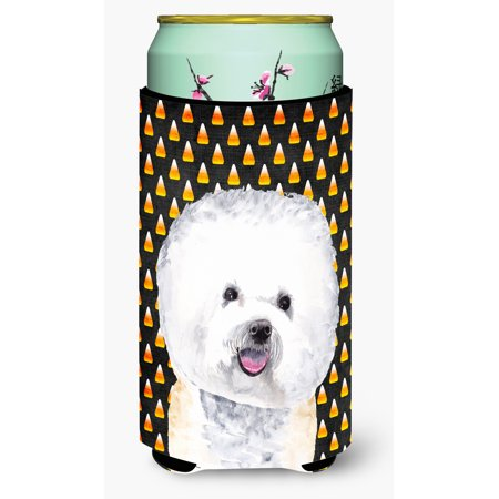 Bichon Frise Candy Corn Halloween Portrait Ultra Beverage Insulators for slim cans SC9173MUK - Halloween Candy Needles 2017