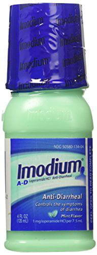 5 Pack Imodium Anti-Diarrheal Mint Flavor Liquid 4 Oz Each