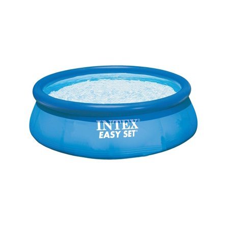 Intex 10 39 x 30 easy set above ground inflatable swimming pool 28120e Inflatable quick set swimming pool