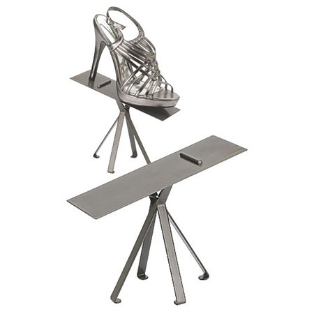 Raw Steel Shoe Display Stand - -