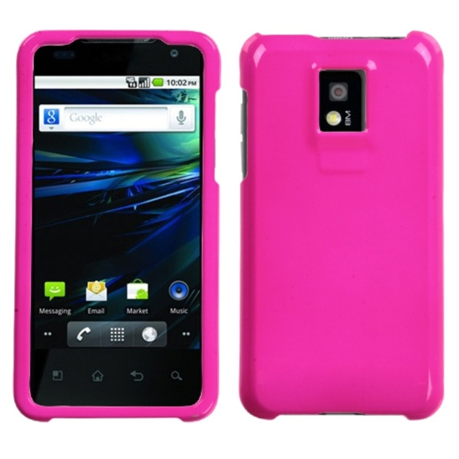 Insten Solid Shocking Pink Phone Case for LG: P999 (G2X)