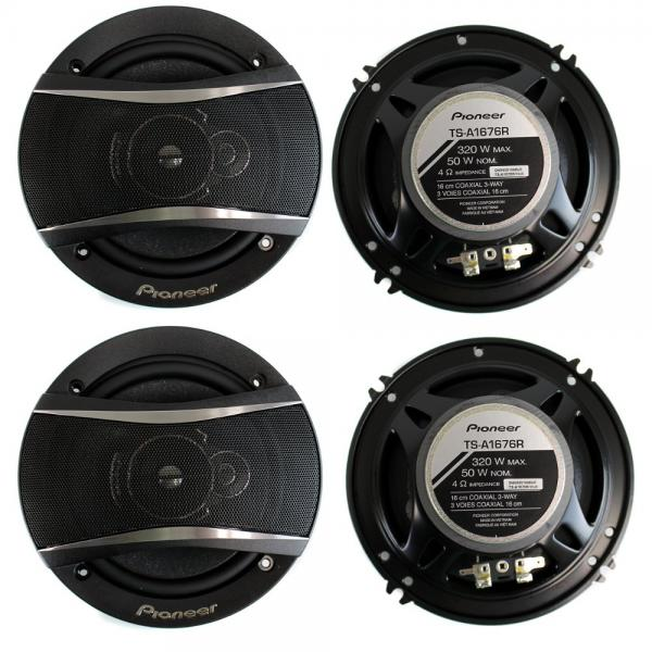 4) Pioneer 6.5 Inch 3-Way 640 Watt Car Coaxial Stereo Speakers Four | TS-A1676R