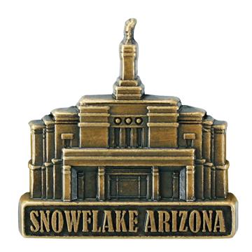 SnowFlake Temple Pin