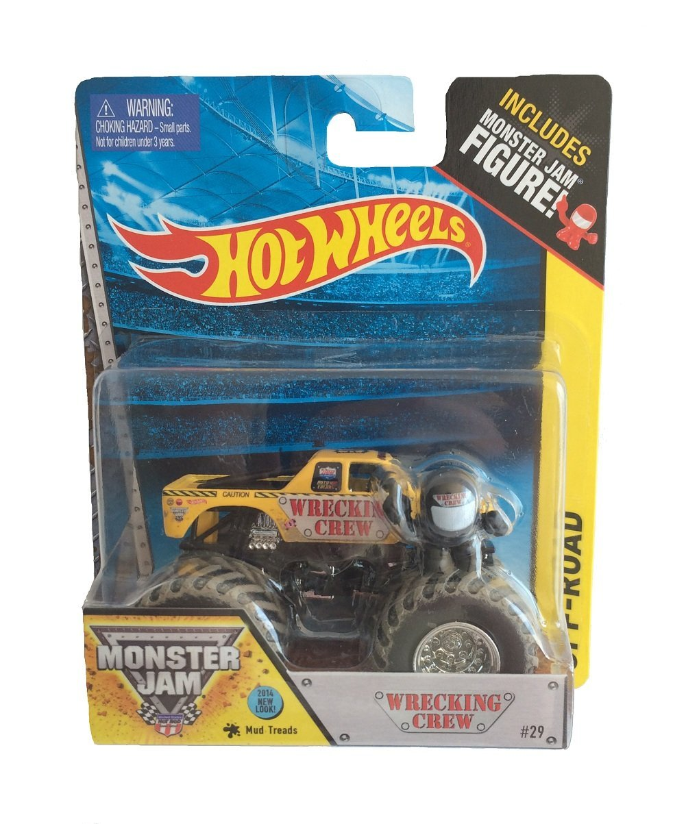 Monster jam 2014 Wrecking Crew with monster jam figure Hot wheels, New 2014 Hot wheels... by
