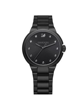 Swarovski (5181626) Black City Crystal Slim Stainless Steel Watch