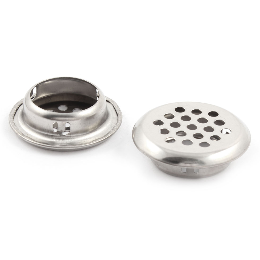 Home Hardware Metal Round Air Vent Louver Silver Tone 25mm Botton Diameter 10pcs - image 1 of 2