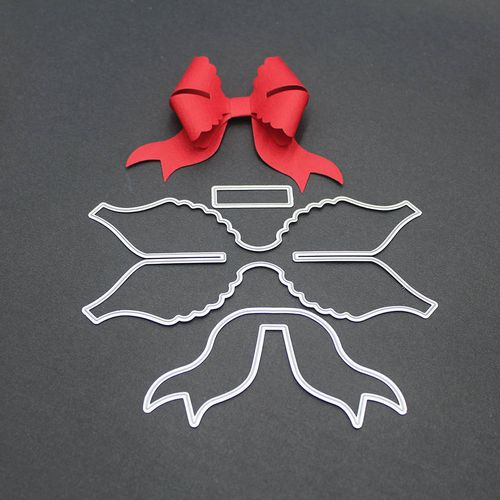 Bow Tie Bowknot Metal Cutting Dies Stencil Scrapbooking Album Card DIY Die Cuts