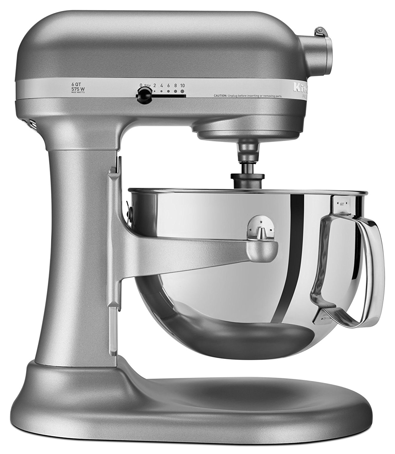 E KitchenAid RKP26M1XSL Professional 600 Series BowlLift Stand Mixer 6 Quart  Silver CERTIFIED REFURBISHED  Walmartcom