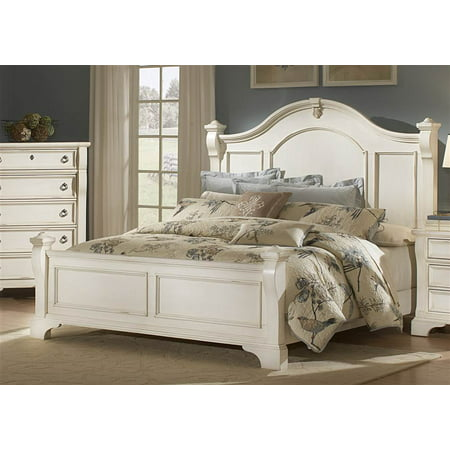 Heirloom Antique White Queen Poster Bed Queen