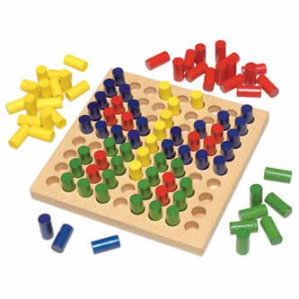 HABA Color Peg - Color Pictures Wooden Mosaic Patterning Set (Made in Germany)