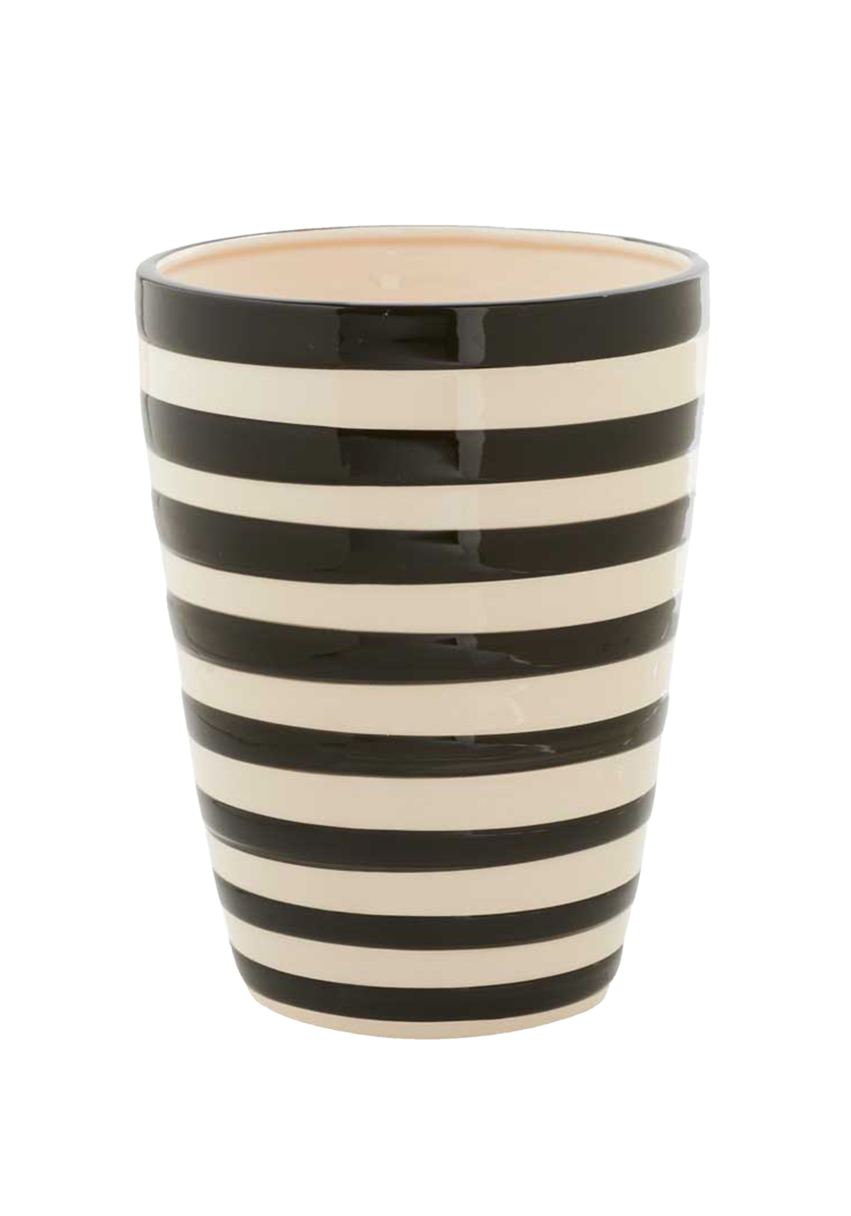 85 Inch Black And White Ceramic Striped Pot Walmart