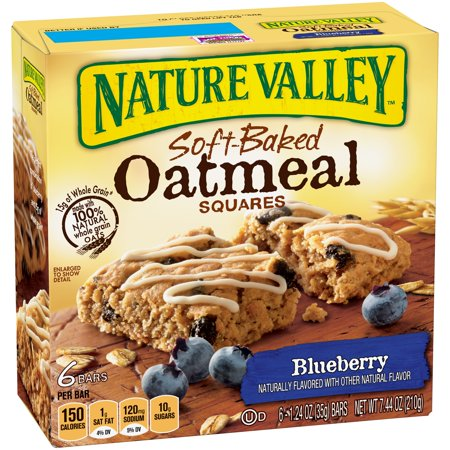 Nature Valley Soft Baked Oatmeal Squares Blueberry 6 - 1.24 oz Bars