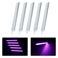 5-Pack LED Grow Light Strips 5W T5 Tube LED for Plants High Output Integrated Fixture Extendable 24 Inches Grow Lights for Greenhouse Plant Grow Shelf