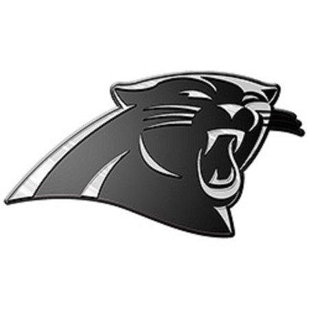 Carolina Panthers Silver Auto Emblem Decal Sticker