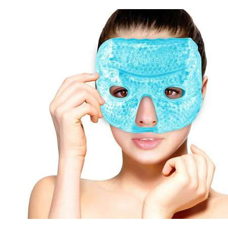 Hot and Cold Therapy Gel Bead Facial Eye Mask by FOMI Care