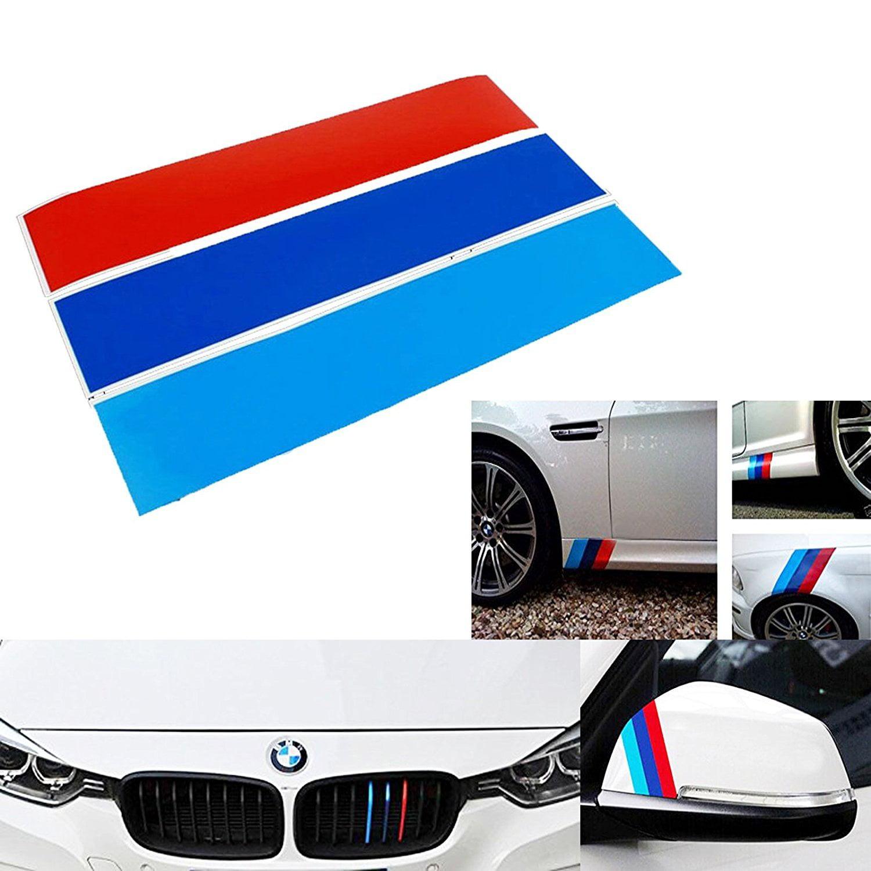 1 Set M-Colored Stripe Decal Sticker For BMW Exterior or Interior Decoration