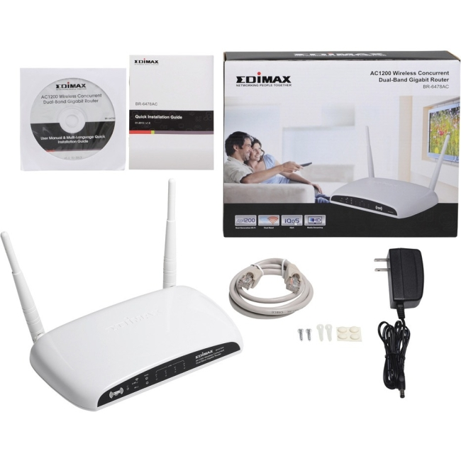Edimax BR-6478AC V2 AC1200 Gigabit Dual-Band WiFi Router/Range Extender/Access Point/Bridge/WISP with USB Port and VPN