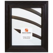 Craig Frames Wiltshire 262, Traditional Black Solid Wood Picture Frame, 8.5 x 11 Inch