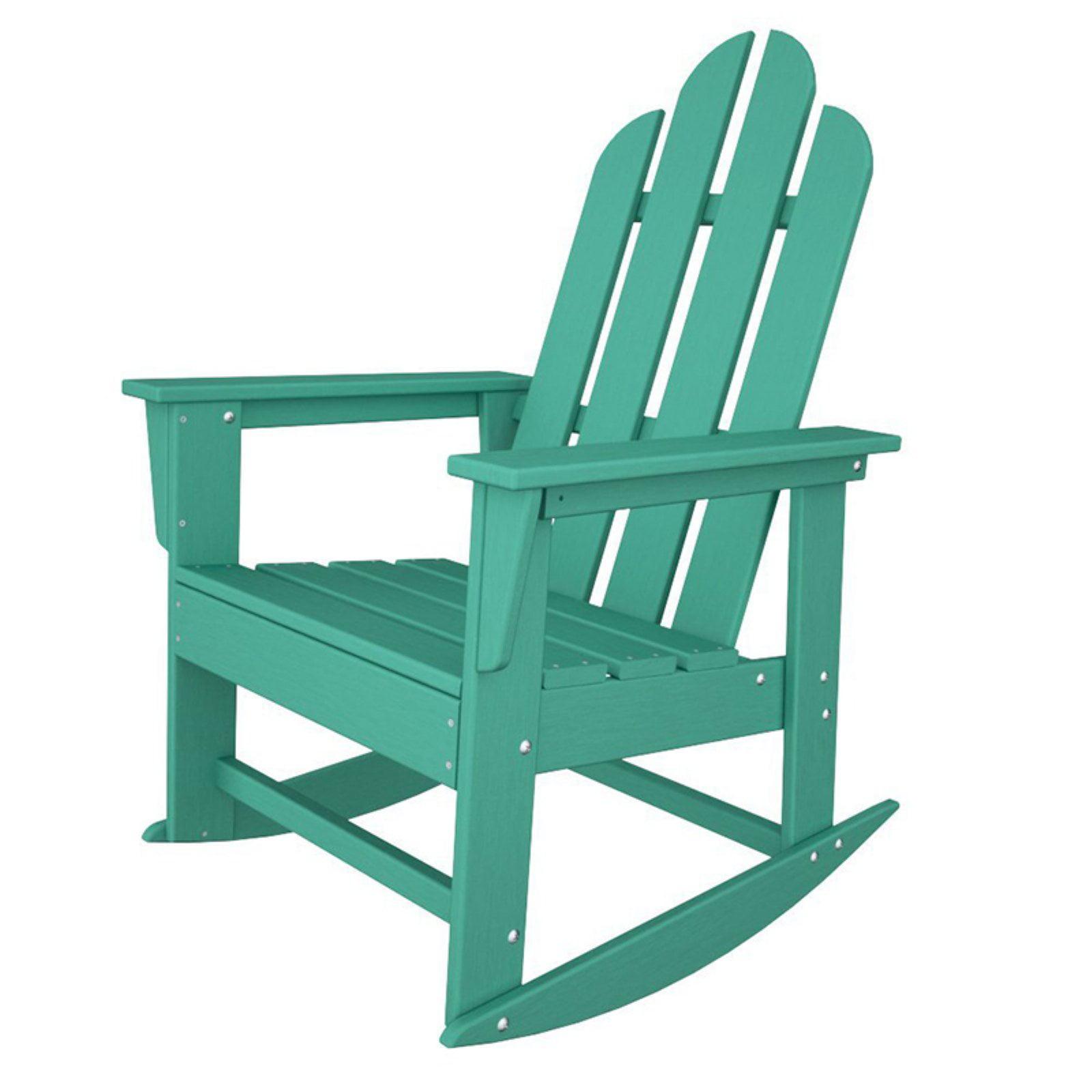POLYWOOD® Long Island Recycled Plastic Adirondack Rocking Chair