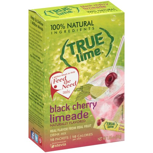 True Lime Black Cherry Limeade Drink Mix, 10 count, 1.06 oz