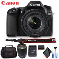 Canon EOS 80D DSLR Camera with 18-135mm Lens (Intl Model) Deluxe Bundle