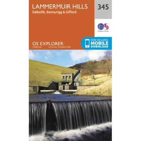 OS Explorer Map (345) Lammermuir Hills (Map)
