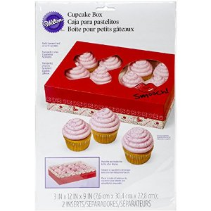 Wilton Industries 415-2802 Valentines Day Doodles Cupcake Box, Assorted Multi-Colored