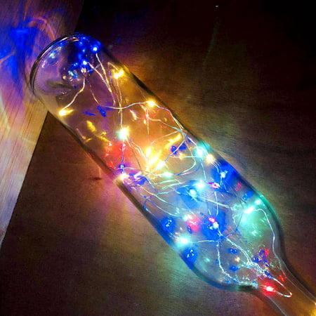 Guirlande de lampes décorative en fil de cuivre étanche à la lumière de la bouteille de vin solaire 10LEDs - image 2 of 7
