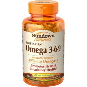 Sundown Naturals Omega 3 6 9 Flax Fish Borage Oils Softgels