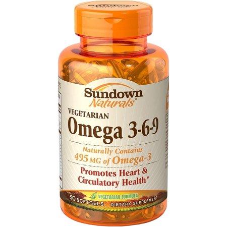 Sundown Naturals Vegetarian Omega 3 6 9 Softgels 50 Ea Walmart Com