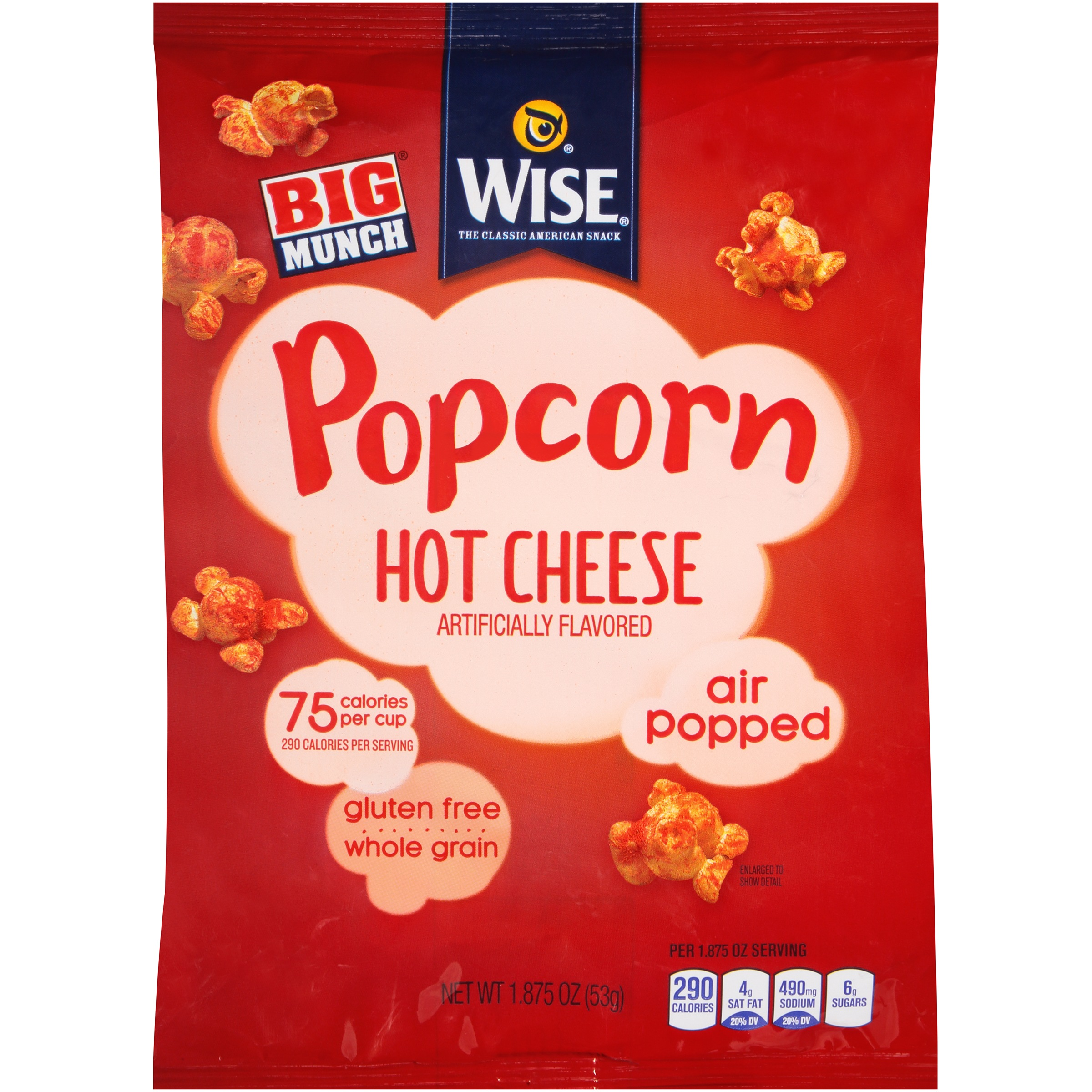 Wise® Hot Cheese Popcorn 1.875 oz. Bag