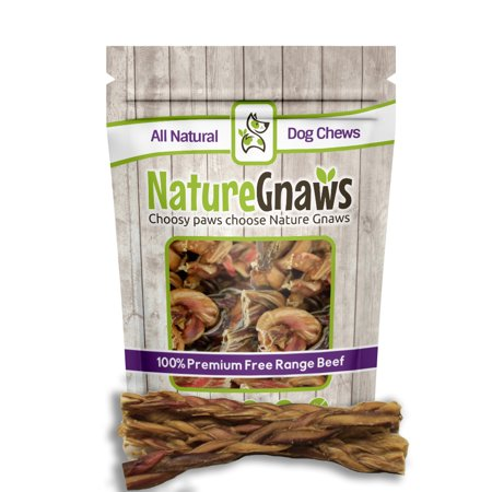 nature gnaws braided bully sticks 10 12 inch dog chews 10 pack 100 all natural grass fed. Black Bedroom Furniture Sets. Home Design Ideas