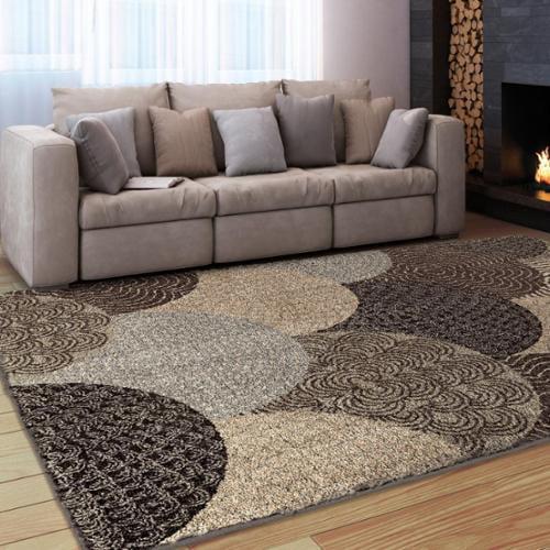 Carolina Weavers Austral Beige/ Brown Shag Rug by