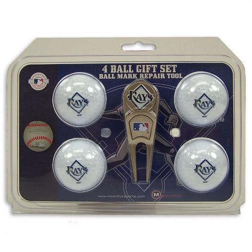 Tampa Bay Rays Official MLB 3 inch  Golf Ball and Divot Tool Gift Set by MacArthur Sports