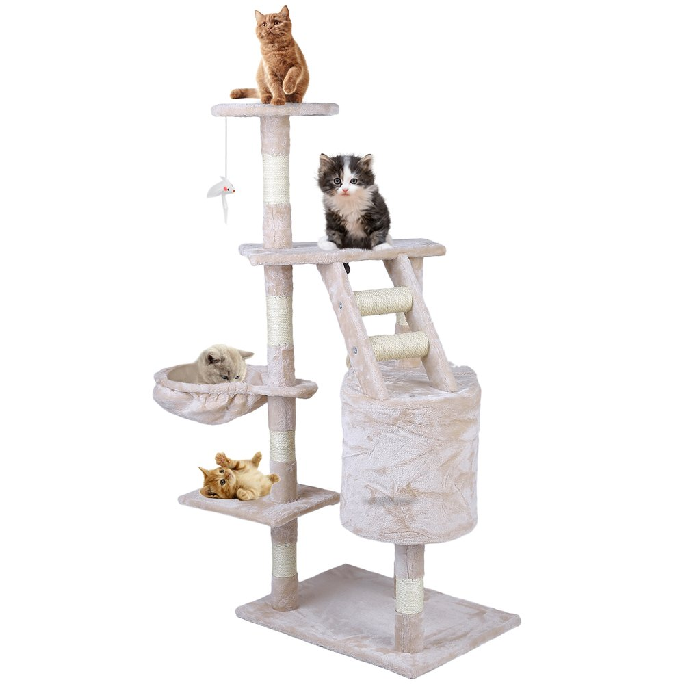 120cm Multi-Level Cat Tree Scratcher Condo Tower Pets Animals Scratching Toy