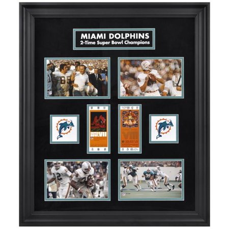Miami Dolphins Framed Super Bowl Replica Ticket & Photo Collage