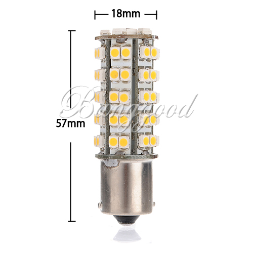 2 PCs P21W BA15S 382 led LED Warm White Automobiles Motorcycles SMD Car Indicator Tail Light Bulb