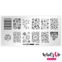 Whats Up Nails - B034 Deck the Nails Stamping Plate Nail Art Design