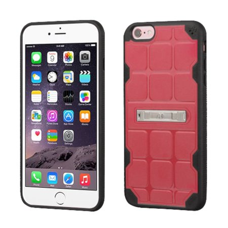 Insten Hard TPU Cover Case w/stand For Apple iPhone 6 Plus/6s Plus - Pink/Black - image 3 de 3