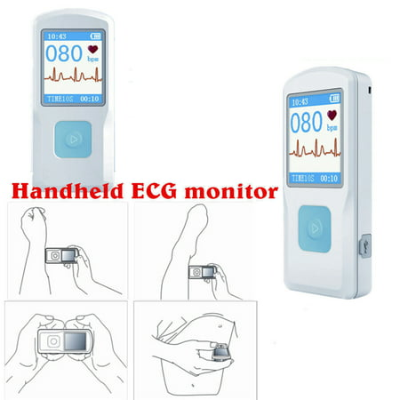 CONTEC PM10 Portable ECG EKG Machine Color Screen ECG Monitor Handheld Heart Machine BT USB PC Software Home Care