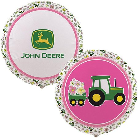 party destination - john deere pink foil balloon](John Deere Party Decorations)