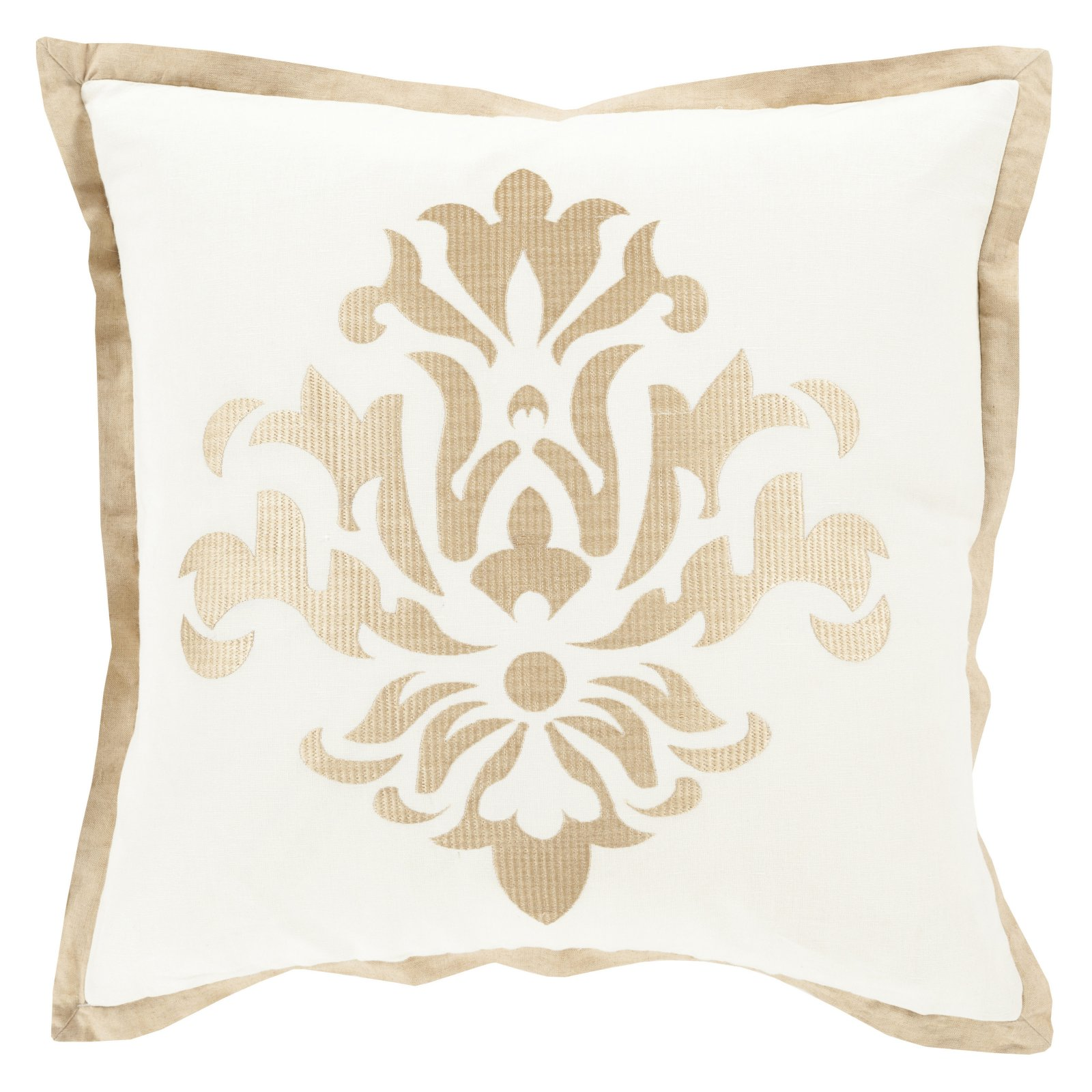 Surya Sparkling Damask Decorative Throw Pillow
