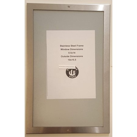 "DIRECTORY FRAME 8.5"" X 14"" STAINLESS STEEL"
